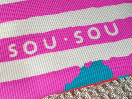 大丸松坂屋オリジナルエコバッグはレッドは「SOU・SOU」ロゴ入り
